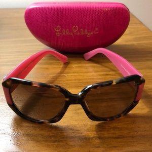 Lilly Pulitzer polarized sunglasses tortoise Pink